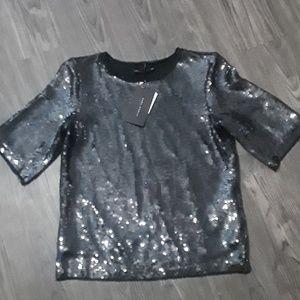 Black sequined top